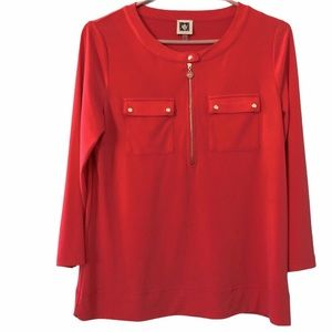 NWOT Anne Klein Coral 3/4 Sleeve Top, Size S